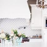 Jillian Harris backsplash. arabesque shaped tile.