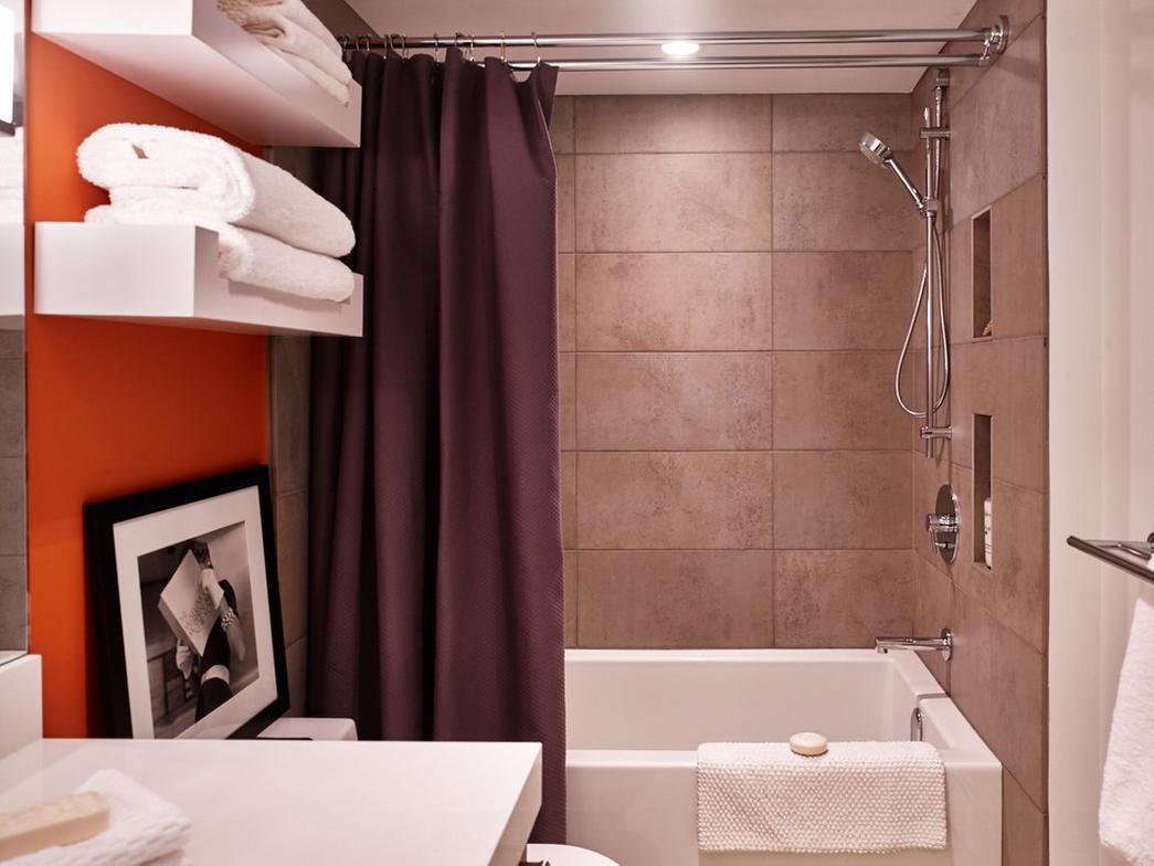 Porcelain tile for the shower