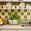 Hand painted decorative tile