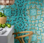 turquoise tile, colourful glass tile