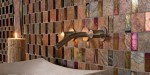 Glass and natural stone mosaic by Oceanside Glasstile