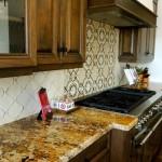 Hand-crafted terracotta backsplash