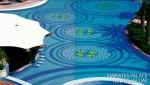 custom pool tile, glass pool tile
