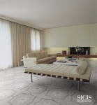High end stone mosaic for the floor