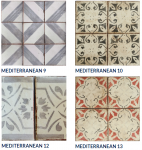 Tabarka Studio's Mediterranean collection, a hand crafted terracotta tile made in the US.
