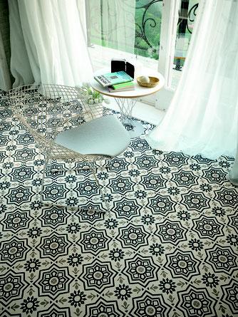 World mosaic tile concrete tile tiles vancouver bc for Blue and white cement tile