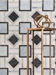 blue black white geometric marble mosaic tile vancouver