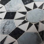 blue white black geometric marble tile vancouver