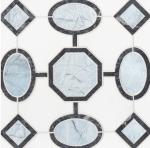 blue marble geometric mosaic