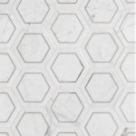 marble hexagon metallic tile vancouver