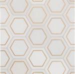 marble stone metallix hexagon tile vancouver