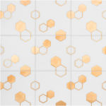 stone marble hexagon metallic tile vancouver